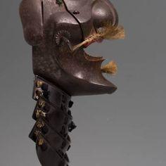 Half Mask, Big Noses, Samurai Armor, Full Face Mask, Japanese Art, Headgear, Swords, Japan Art, Sword