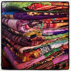 Fair Trade Single Bed Silk Gudri/Quilt. $88.00, via Etsy.