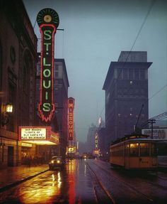 Grand Avenue Theater district, St. Louis, 1944