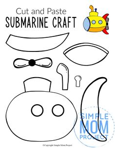 Looking for the best ocean animal crafts for your kids? These easy ocean animal crafts have 20+ fun cut and paste templates to keep toddlers, preschoolers or even big kids amused for hours. Including our popular dolphins, sea turtles, jellyfish, octopus and many more these are sure to be a big hit with your kids for fun craft activities or even homeschooling lessons. Click here to grab these awesome ocean animal craft templates today. #oceananimalcrafts #oceanfriends #underwateranimalcrafts Sea Animal Crafts, Animal Crafts For Kids, Toddler Crafts, Summer Art Projects, Summer Crafts For Kids, Submarine Craft, Yellow Submarine, Printable Crafts, Templates Printable Free