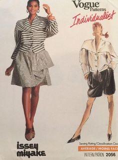 Vintage Pattern Vogue 2056 Individualist Designer Issey Miyake 16/38 Uncut