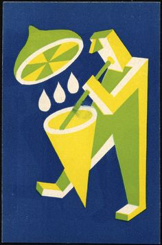 "design-is-fine: "" Fortunato Depero, advertising postcard for Lemonade, Messina, Italy. Food Graphic Design, Graphic Design Illustration, Design Art, Illustration Art, Illustrations, Vintage Ads, Vintage Posters, Futurism Art, Art Deco Posters"