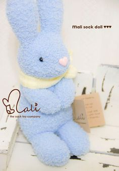 Mali Sock Doll  Rabbit  Snowball by malidolls on Etsy, $38.95
