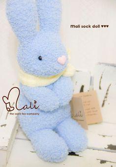 Mali Sock Doll  Rabbit  Snowball by malidolls on Etsy, $38.95