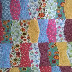 Quilt 'Tumbler', muito colorido e alegre <3