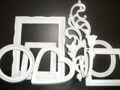 Vintage Shabby Chic 6 picture frame Set Wall by midnightcrafter53, $60.00