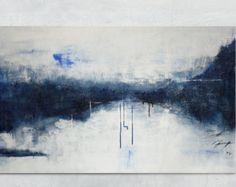 Abstract Painting of Trees on the Horizon Heavily por BrittsFineArt