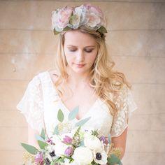 Laura silk floral crown