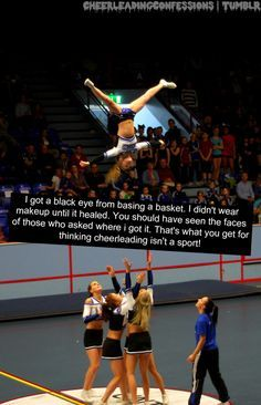 Kinda like when I broke my nose catching someone, or I got hit in the throat, a. Cheerleading Workouts, Cheerleading Photos, Cheer Workouts, Easy Cheerleading Stunts, Cheerleading Cheers, Gabby Douglas, Leadership Quotes, Cheer Team Pictures, Cheer Pics