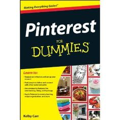 My friend Kelby is writing this so you KNOW it will be good. You can preorder Pinterest For Dummies on Amazon :-)