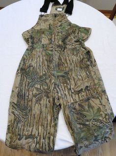 Gander Mountain RealTree Bib Overalls Size L-R Camo Hunting Youth XL Made in USA #GanderMountainRealTree