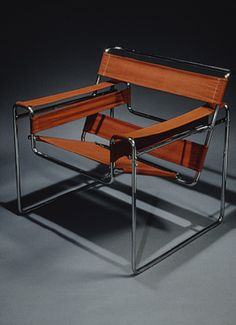 """Wassily"" chair, 1925 Marcel Breuer (American, born Hungary, 1902–1981) Chrome-plated steel, canvas upholstery"