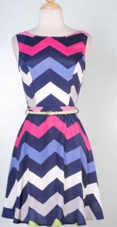 Chevron Strip Dress $49.99