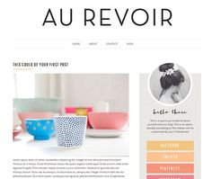 Free Download Photoshop here! Au Revoir  Responsive Self Hosted Wordpress theme by TheBlogBoat, $35.00