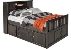 Creekside Charcoal 3 Pc Full Captains Bookcase Bed. $575.00. 87L x 62W x 53H. Find affordable Beds for your home that will complement the rest of your furniture.