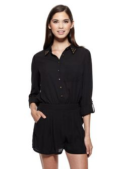 404a4139f747 On ideeli  POTTER S POT Button-Up Romper with Studded Collar