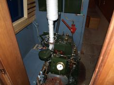 A Vintage Ruston Hornsby Engine on Narrowboat Called Cloister