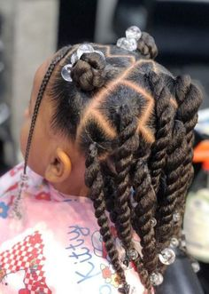 Little Girls Natural Hairstyles, Cute Toddler Hairstyles, Natural Hairstyles For Kids, Kids Braided Hairstyles, Black Baby Girl Hairstyles, Young Girls Hairstyles, Little Girl Braid Hairstyles, Little Girl Braids, Braids For Kids