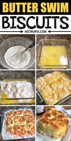 Butter Swim Biscuits - Instrupix Comida Filipina, Homemade Biscuits Recipe, Quick Biscuit Recipe, Easy Biscuit Recipe 3 Ingredients, Easy Biscuit Recipes, Recipes With Biscuits, Homemade Breads, Butter Biscuits Recipe, Easy Homemade Recipes