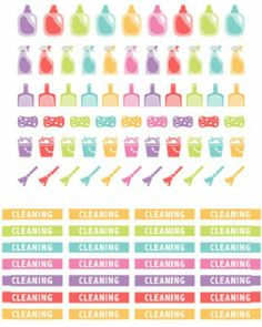 Planner & Journaling Printables ❤ Cleaning stickers