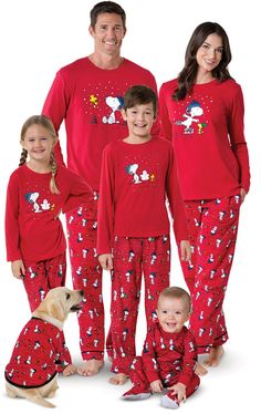 ba52807ea2 Snoopy   Woodstock Matching Family Pajamas