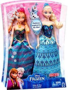 Mattel Disney Frozen 11 Inch Doll 2-Pack Anna & Elsa of Arendelle