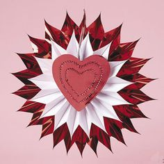 red heart decoration for wall