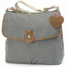 Babymel Navy Stripe Satchel Diaper Bag #baby