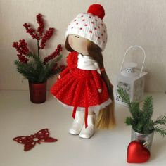 Set for self-tailoring-Textile Dolls-Fabric Doll-Handmade Dolls-Rag Toys-Interior Doll-Christmas Gift-Dolls