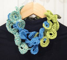 Connected-ness Crocheted Jewels by Tahbepet, via Flickr