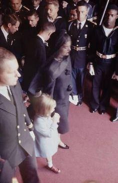 Mrs. Kennedy and Caroline