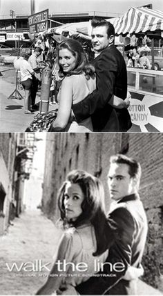UP :JOHNNY CASH AND JUNE CARTER   DOWN : JOAQUIN PHOENIX AND REESE WITHERSPOON  [ IN THE MOVIE WALK THE LINE ]
