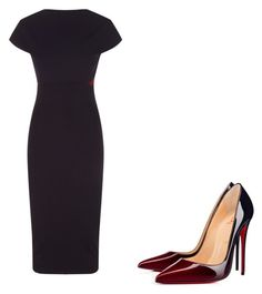 """"" by melodyleighmitchell on Polyvore featuring Victoria Beckham and Christian Louboutin"