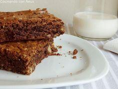 Receta Postre : Brownie con nueces por Cocinando con Neus