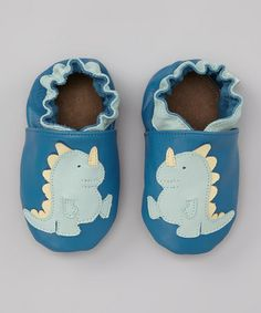 Blue Baby Dino Booties on sale at Zulily. Cuteness!