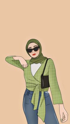Girl Cartoon, Cute Cartoon, Cartoon Art, Iphone Background Wallpaper, Galaxy Wallpaper, Hijab Drawing, Islamic Cartoon, Hijab Cartoon, Cute Girl Wallpaper