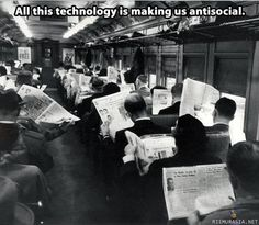 All this technology...