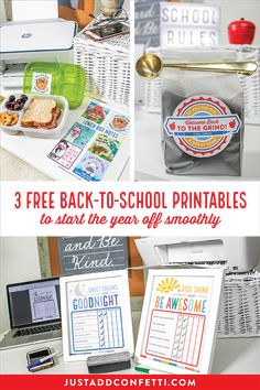 Get ready for back-to-school with these 3 free printables made using HP's most affordable wireless printer to date — HP DeskJet 2636 All-In-One Printer available at Walmart. The print quality is fantastic and you can print twice as many pages by using the HP Original Ink Combo Pack. What a cost savings! Grab all of the free printables in the Just Add Confetti Printable Library and start the school year off smoothly! #CreatedWithHP #backtoschool #freeprintable #JustAddConfetti