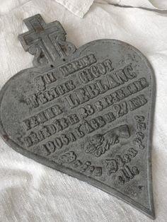 Antique Heart 1906 FleaingFrance Brocante