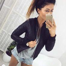 Makkron 2017 Autumn Women Black Short Coat Outwear Long Sleeve Soft Zippers Women Pockets Casual Jackets(China)