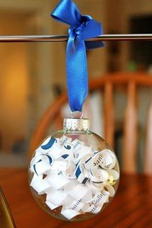 Wedding invitation Christmas keepsake ornament