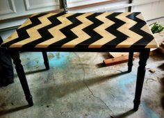 DIY Chevron Table (for the kitchen table or coffee table)