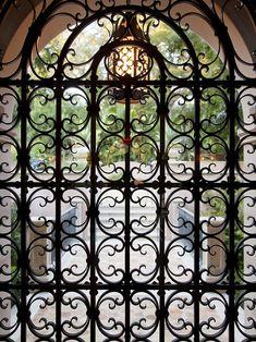 Wrought Iron entry. Stunning!