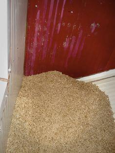Pellet almacenado en silo
