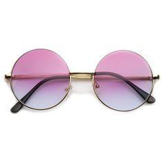 Retro Lennon Inspired Round Multi Color Rainbow Lens Sunglasses 9204 ($11) ❤ liked on Polyvore featuring accessories, eyewear, sunglasses, glasses, purple, round metal glasses, rounded sunglasses, retro glasses, retro round glasses and purple sunglasses