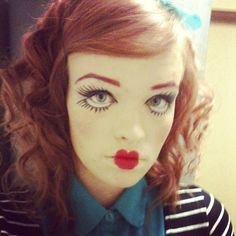 Rag doll makeup for Halloween. Try it with crcmakeup.com ...
