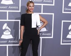 Beyonce at the 55th Grammy Awards.