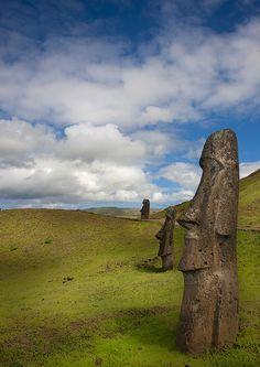 Moais In Rano Raraku, Easter Island, Chile by Eric Lafforgue, via Flickr