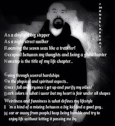Poem wrote about Aaron Goodwin