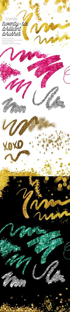 gold foil effects like magic with photoshop: InstaGlam. gold brushes, gold leaf, gold foil, glam, luxe